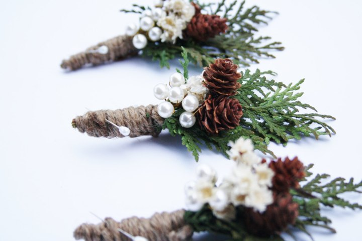 Rustic Boutonniere Winter