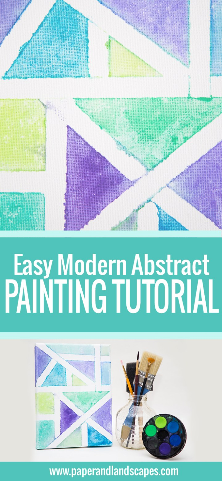 Easy Modern Abstract Painting Tutorial - Pinterest