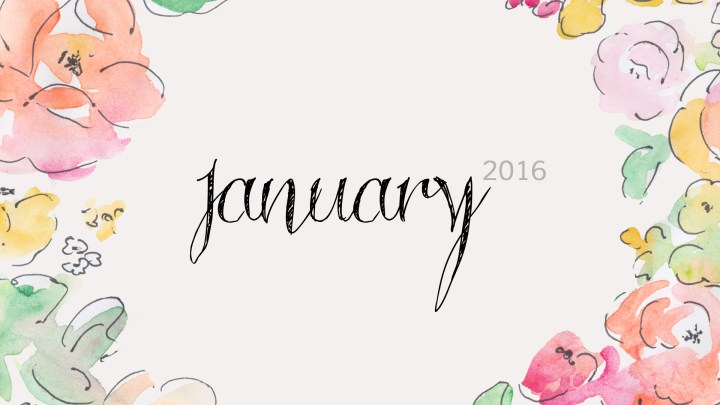 Free Download January 2016 Wallpaper Floral