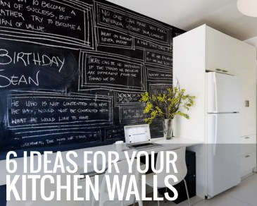 6 Ideas For Your Kitchen Walls - Paper and Landscapes