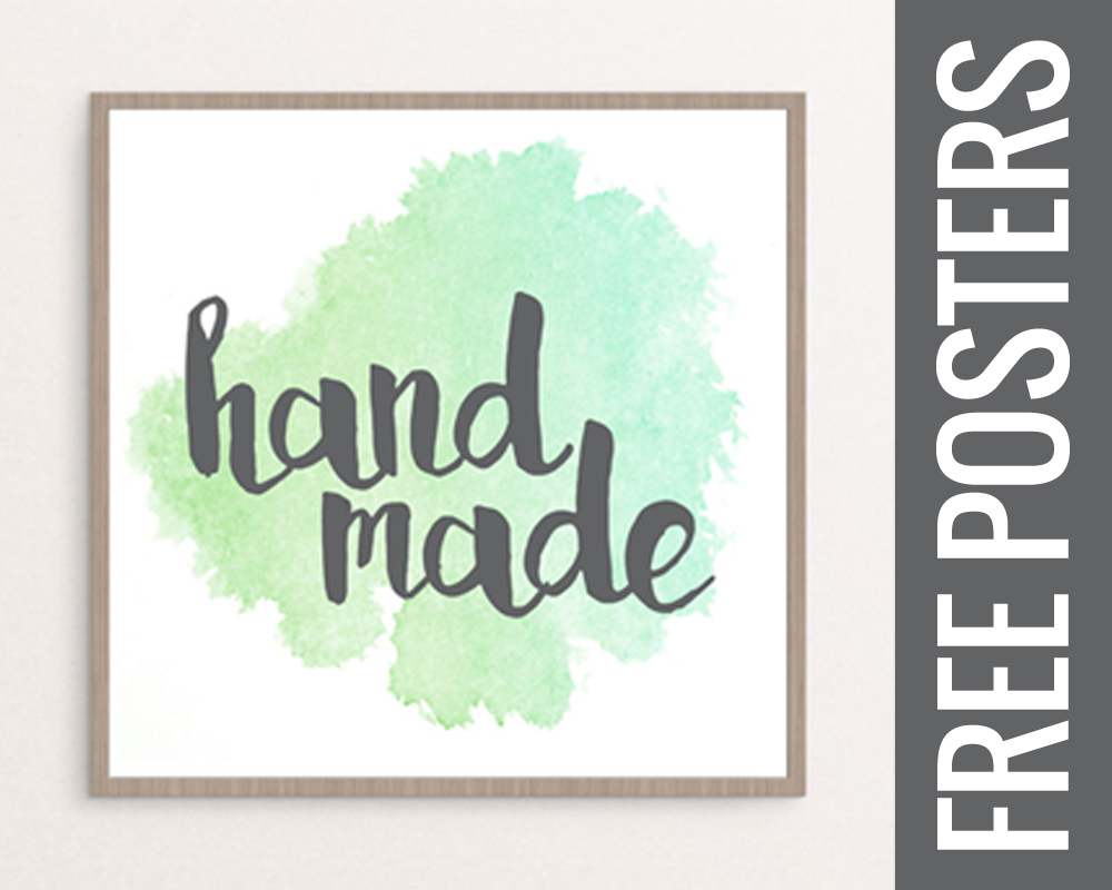 picture relating to Printable Posters titled No cost Printable Posters for your Craft Place or Kitchen area