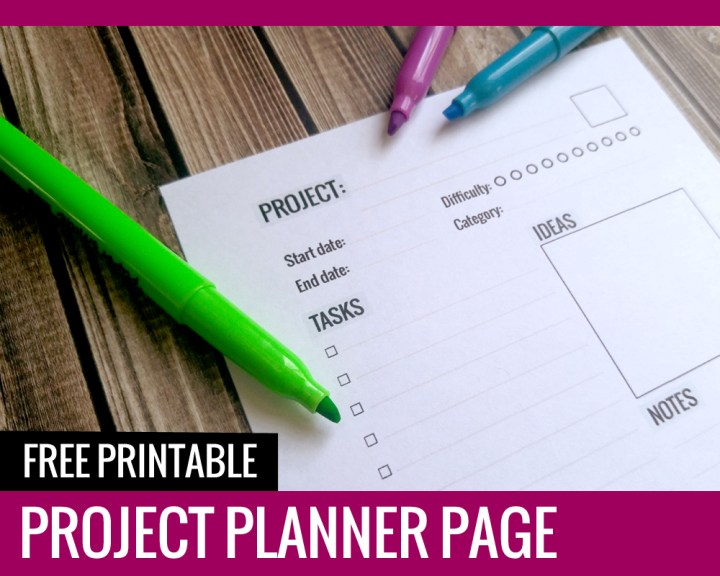 Project Planner - Paper and Landscapes