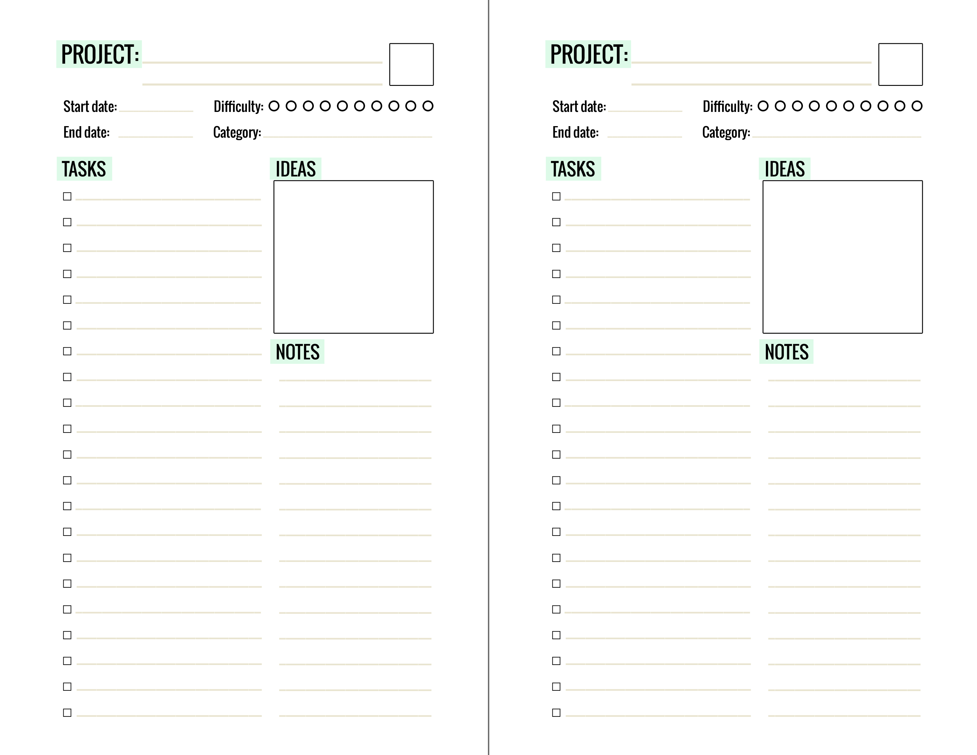photo relating to Free Printable Project Planner titled Free of charge Printable Task Planner Webpage - Paper and Surroundings