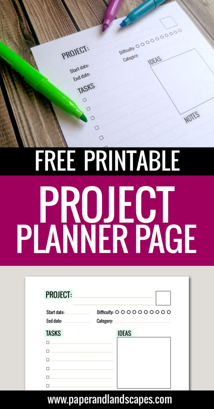 Project Planner - Paper and Landscapes PIN