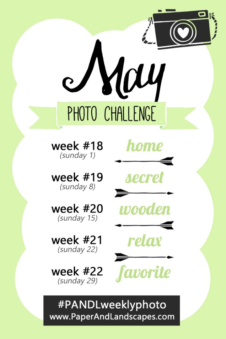 Photo Challenge Words - May - Paper and Landscapes