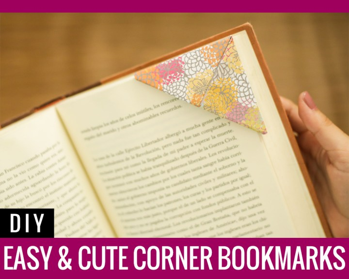 DIY: Easy & Cute Corner Bookmarks