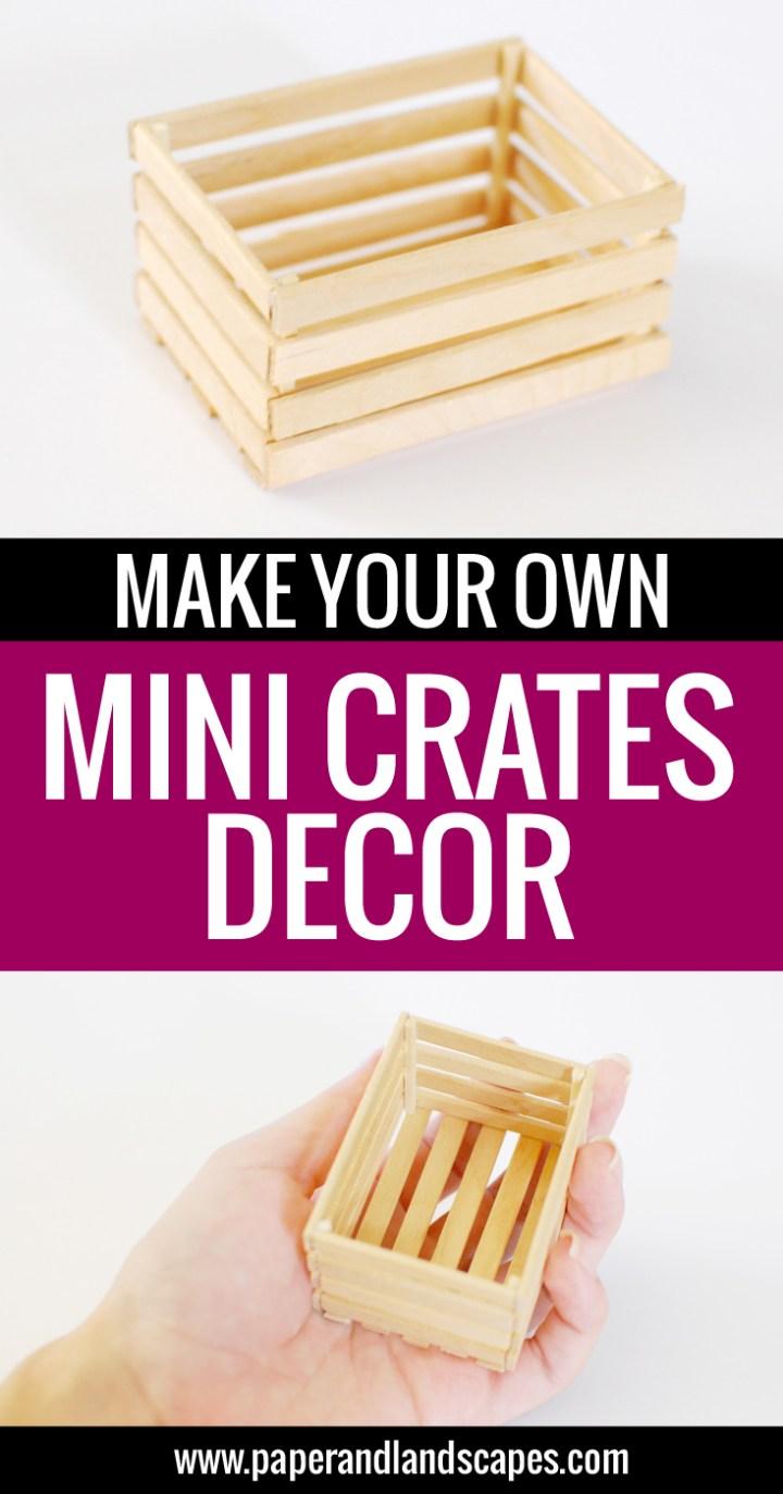 Mini Crates Decor - Paper and Landscapes