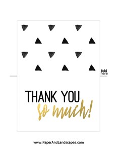Free Printable - Thank you so much - Paper and Landscapes