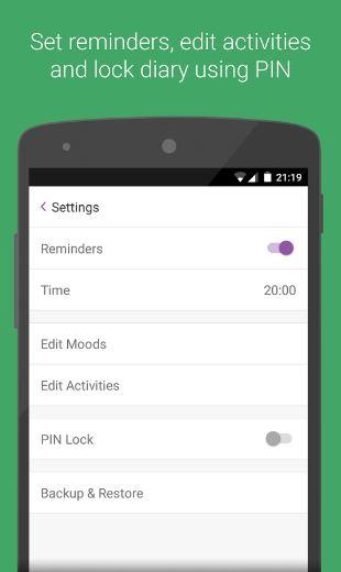 Daylio App - Settings
