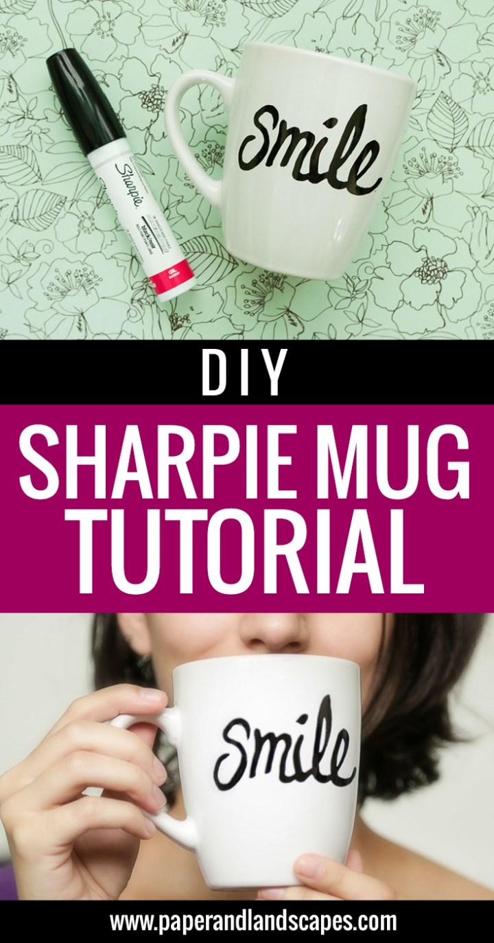 DIY Sharpie Mug Tutorial - Pinterest
