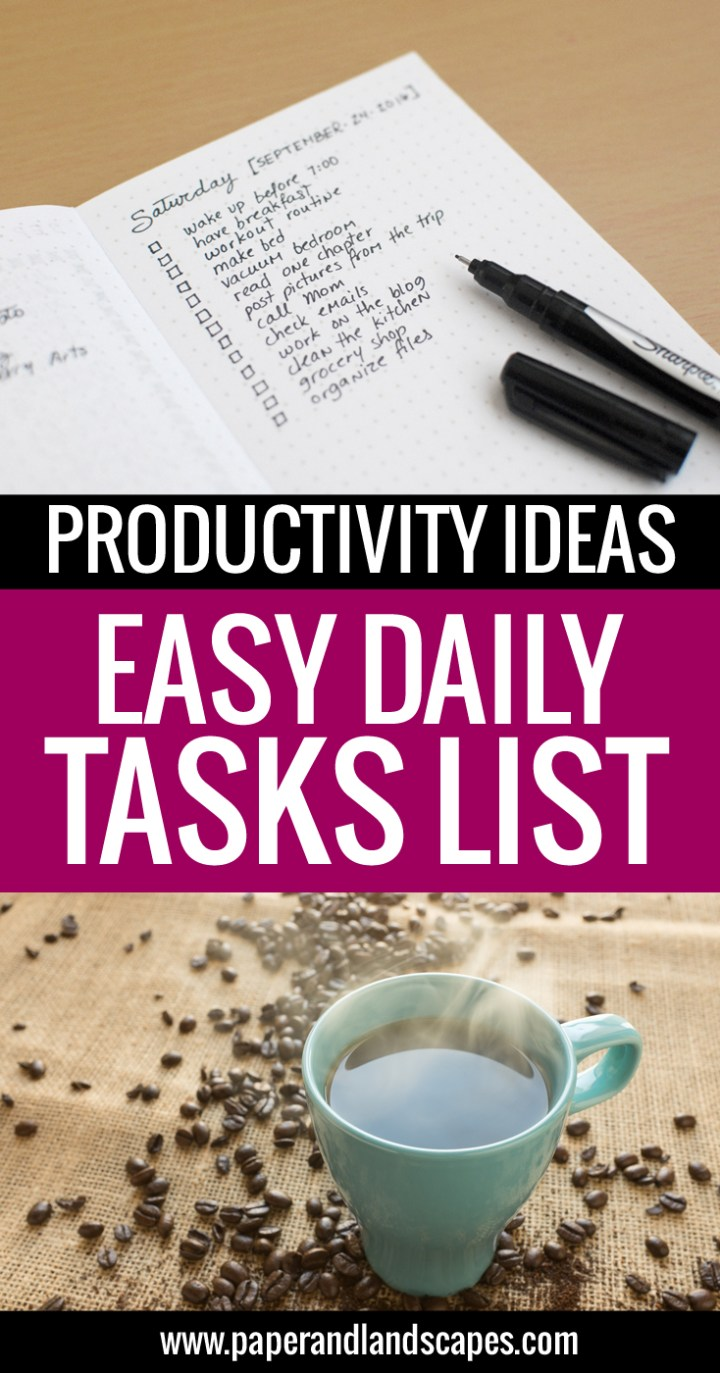 Daily Tasks List - Paper and Landscapes