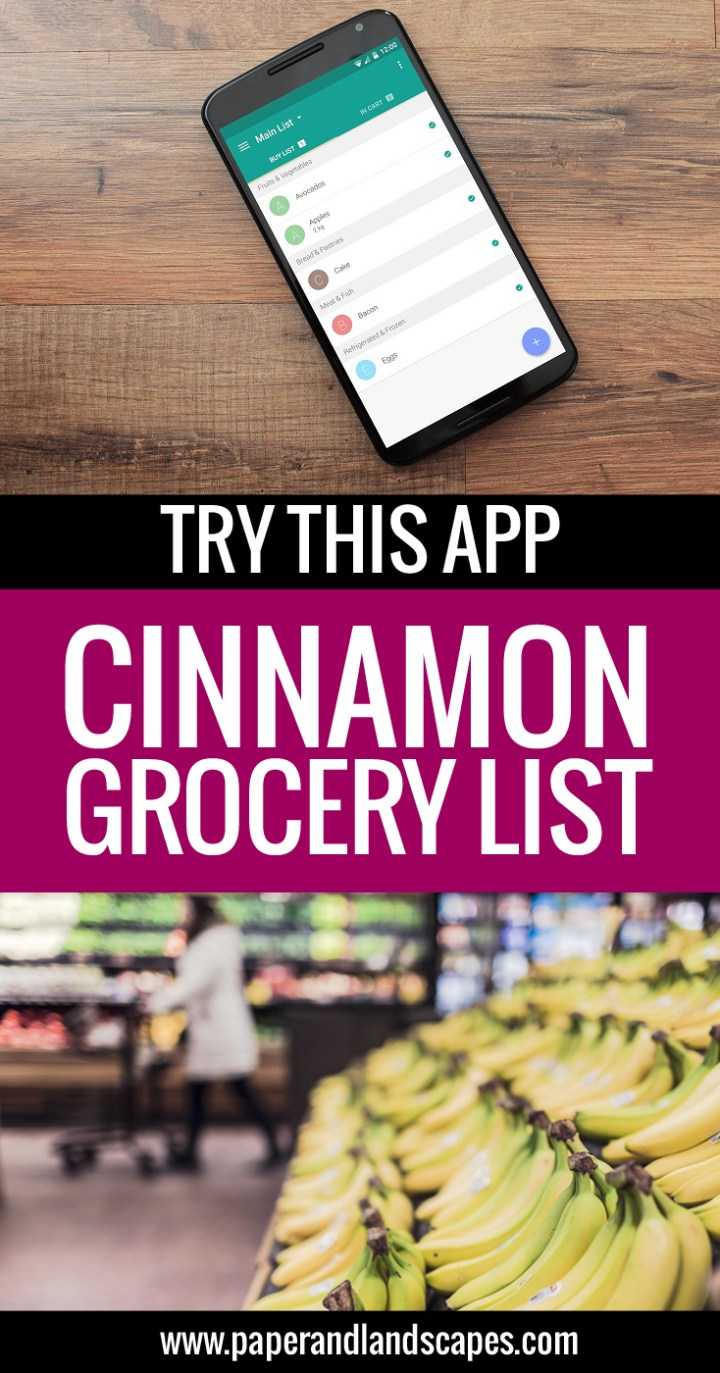 Cinnamon App Review - Paper and Landscapes