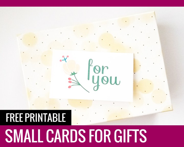 Free Printable Small Cards for Gifts
