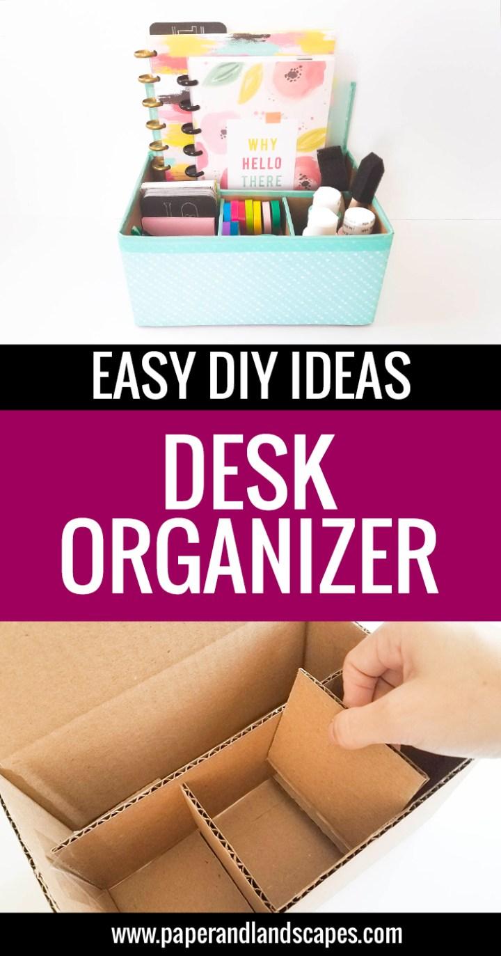 Desk Organizer - Paper and Landscapes
