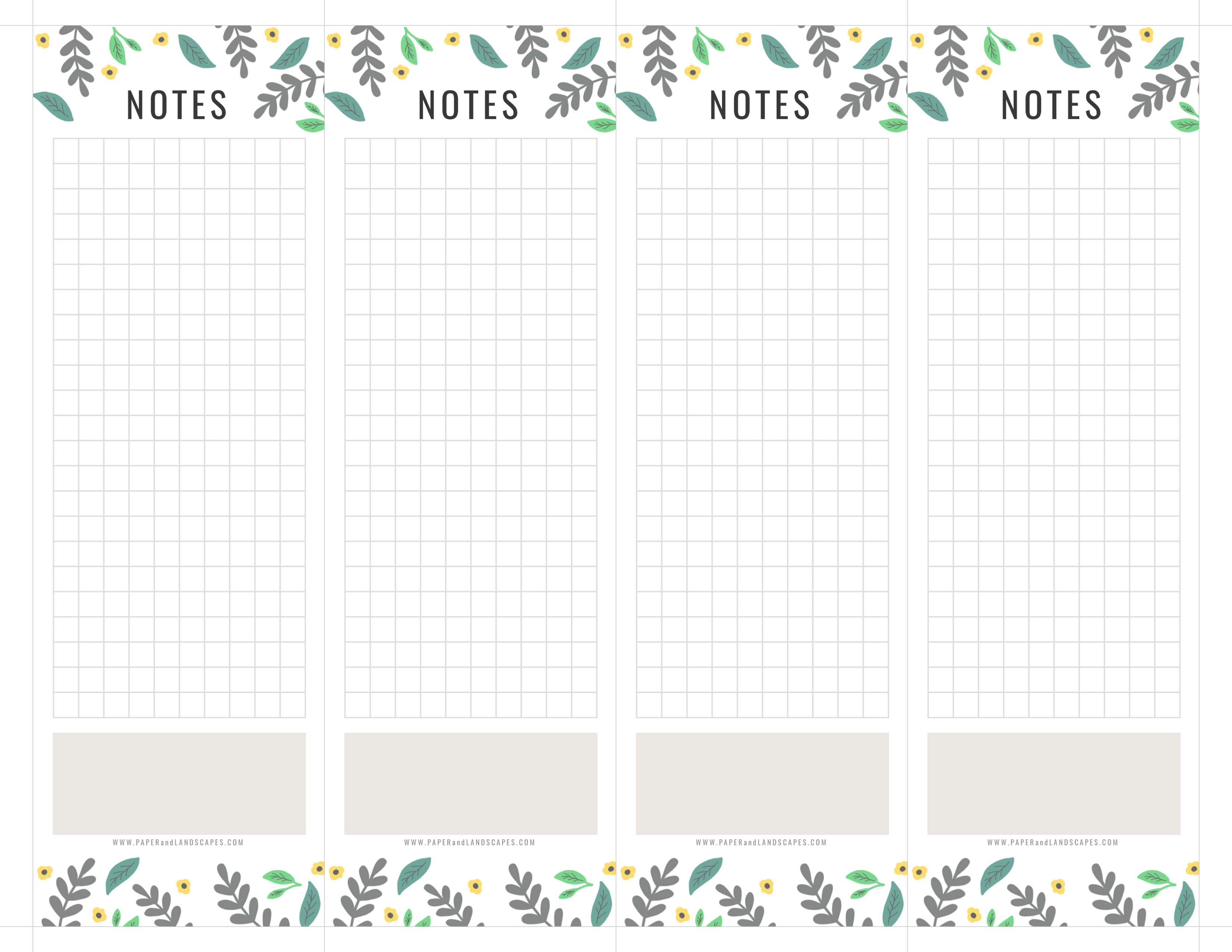 picture relating to Printable Notepads identified as How in direction of Generate your Personal Notepads - Paper and Scenery