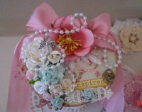 Altered Shabby Chic Double Lace Spool Roll