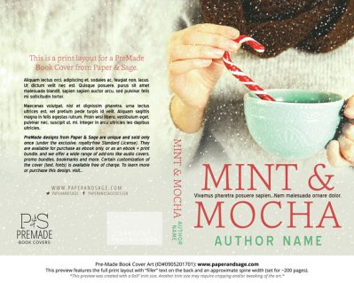 Print layout for Pre-Made Book Cover ID#0905201701 (Mint & Mocha)