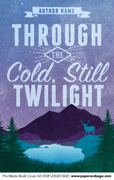 Premade Book Cover Art : Premade book cover  through the cold still