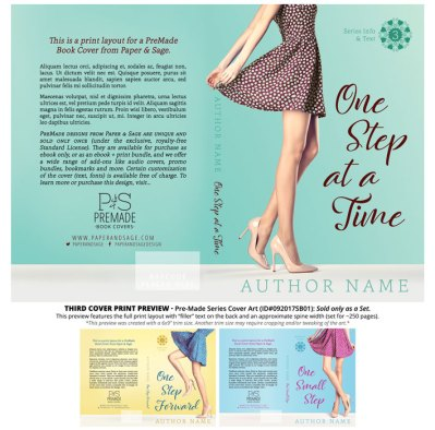 Print Layout for PreMade Series Covers ID#092017SB01 (Step Out Trilogy, Only Sold as a Set)