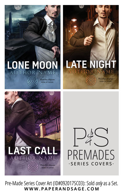 PreMade Series Covers ID#092017SC03 (Lone Moon Trilogy, Only Sold as a Set)