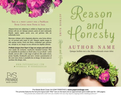 Print layout for Pre-Made Book Cover ID#170903TA01 (Reason and Honesty)