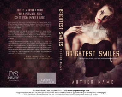 Print layout for Pre-Made Book Cover ID#171011TA03 (Brightest Smiles)