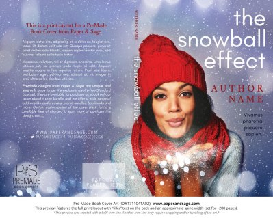 Print layout for Pre-Made Book Cover ID#171104TA02 (The Snowball Effect)