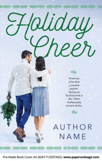 Pre-Made Book Cover ID#171203TA02 (Holiday Cheer)