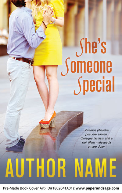 Pre-Made Book Cover ID#180204TA01 (She's Someone Special)