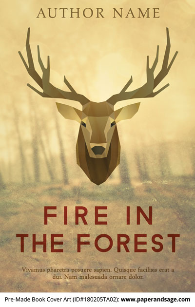 Pre-Made Book Cover ID#180205TA02 (Fire in the Forest)