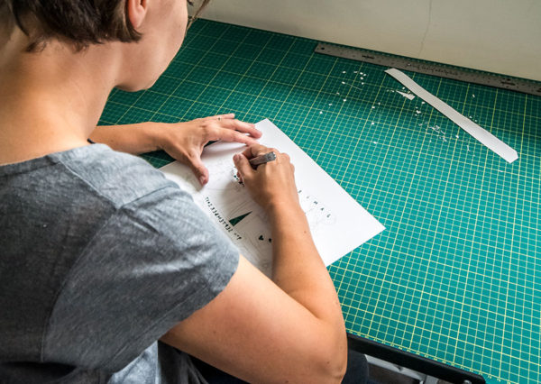 hard at work - Paper Cut Gifts