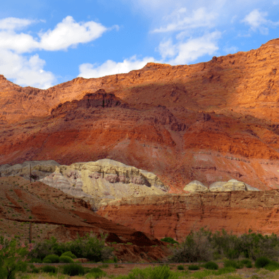 Another view of the cliffs surrounding the river.