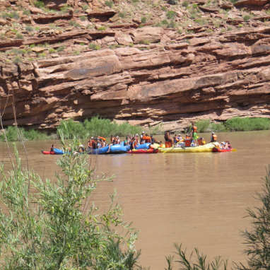 Rafters on the upper Colorado above Moab.