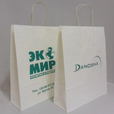 Бумажные пакеты с логотипос