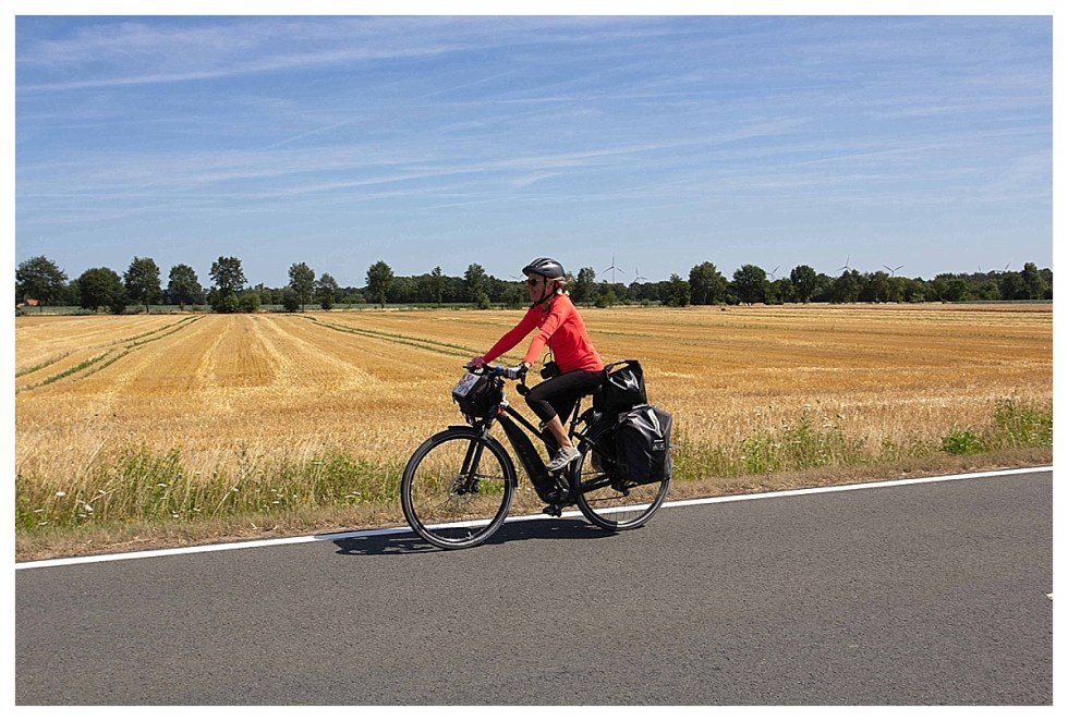 Leanne cycling in Germany