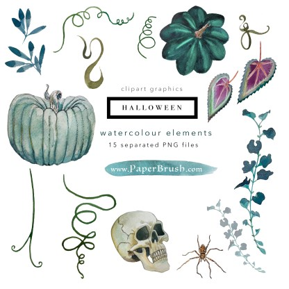 Halloween elements set of png files