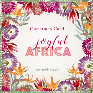 Joyful Africa christmas card