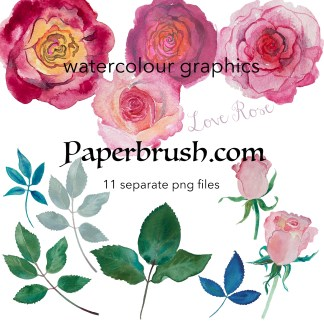 love rose png bundle