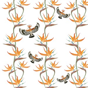 Bird of Paradise design by Leanne Talbot Nowell