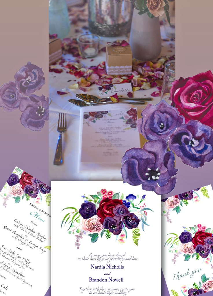 Wedding invitations by Leanne Talbot Nowell