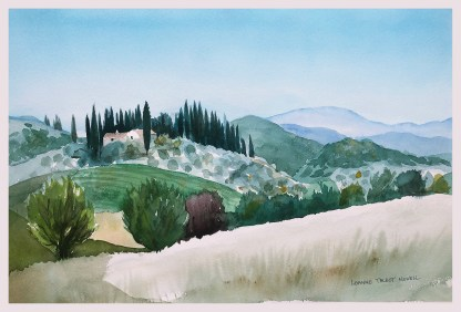 Tuscany Print 2 - Chianti region, painted landscape