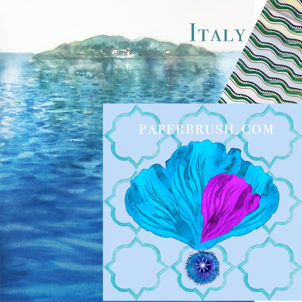 Italy fabric design by Leanne