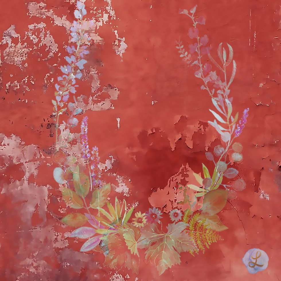 Pompeii red garland by Leanne Talbot Nowell