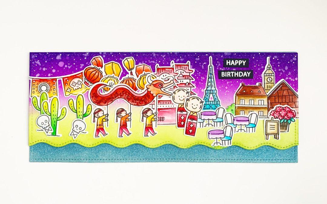Epcot themed Birthday card!