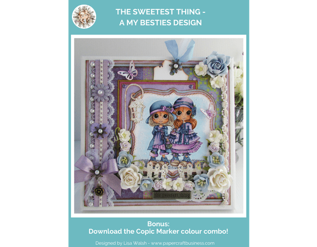 The Sweetest Thing - My Besties - Papercraft Business. Download the FREE Copic Marker colour combo.
