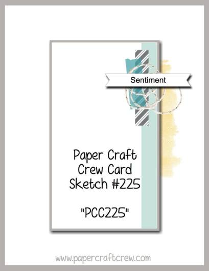 Visit the Paper Craft Crew and play along with Card Sketch 225. #pcc2017 #cardsketch  www.papercraftcrew.com