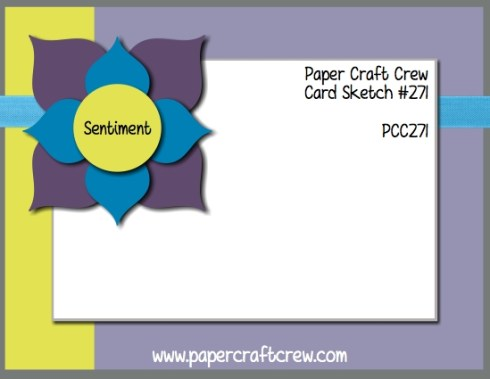 Play along with the Paper Craft Crew for Sketch Challenge 271. The challenge starts December 6th and ends December 12, 2017 at 1 PM EST. Visit the blog at www.papercraftcrew.com to check out the design team samples and to submit your project. #papercraftcrew #papercrafting #sketchchallenge #color #playalong #imakecards #cardmaker #diy #sendacard #craft #stampinup #cardchallenge #papercraft #bigshot #rainydayfun #designteam #becreative #artsandcrafts #hobby #snailmail #createeveryday #crafttherapy #creativelifehappylife #pcc2017