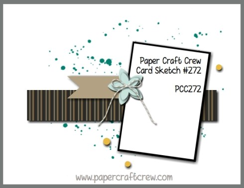 Play along with the Paper Craft Crew for Sketch Challenge 272. The challenge starts December 13th and ends December 19, 2017 at 1 PM EST. Visit the blog at www.papercraftcrew.com to check out the design team samples and to submit your project. #papercraftcrew #papercrafting #sketchchallenge #color #playalong #imakecards #cardmaker #diy #sendacard #craft #stampinup #cardchallenge #papercraft #bigshot #rainydayfun #designteam #becreative #artsandcrafts #hobby #snailmail #createeveryday #crafttherapy #creativelifehappylife #pcc2017
