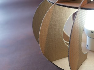 papercraft table lamp abat-jour lampada