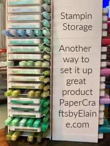 Great way to store your ink pads, store ink pads and markers together,  easy storage for craft supplies,  ink pad storages, Stampin Write Markers storage, storing your alcohol markers, ink pads and markers storage.